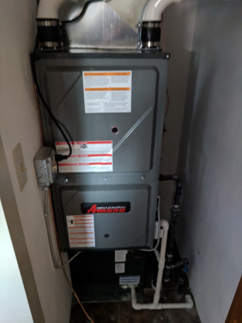 Avoca, MI - Install Amana Furnace, AC, and electric hot water tank