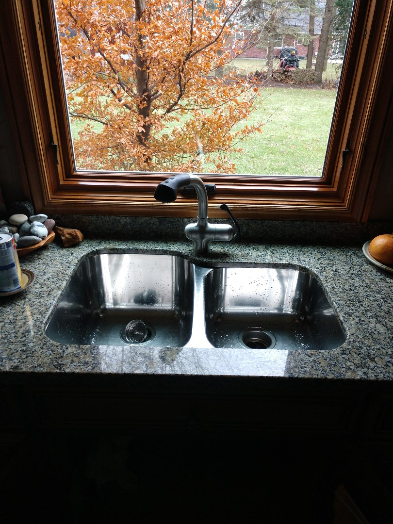 Saint Clair, MI - Plumber needed. Grohe kitchen faucet sink repair or replace. Shutoffs and supply lines