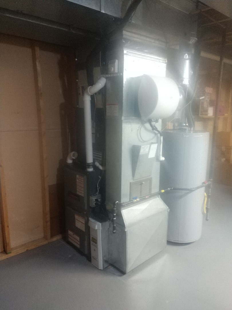 East China, MI - Installation of an Amana furnace and air conditioning