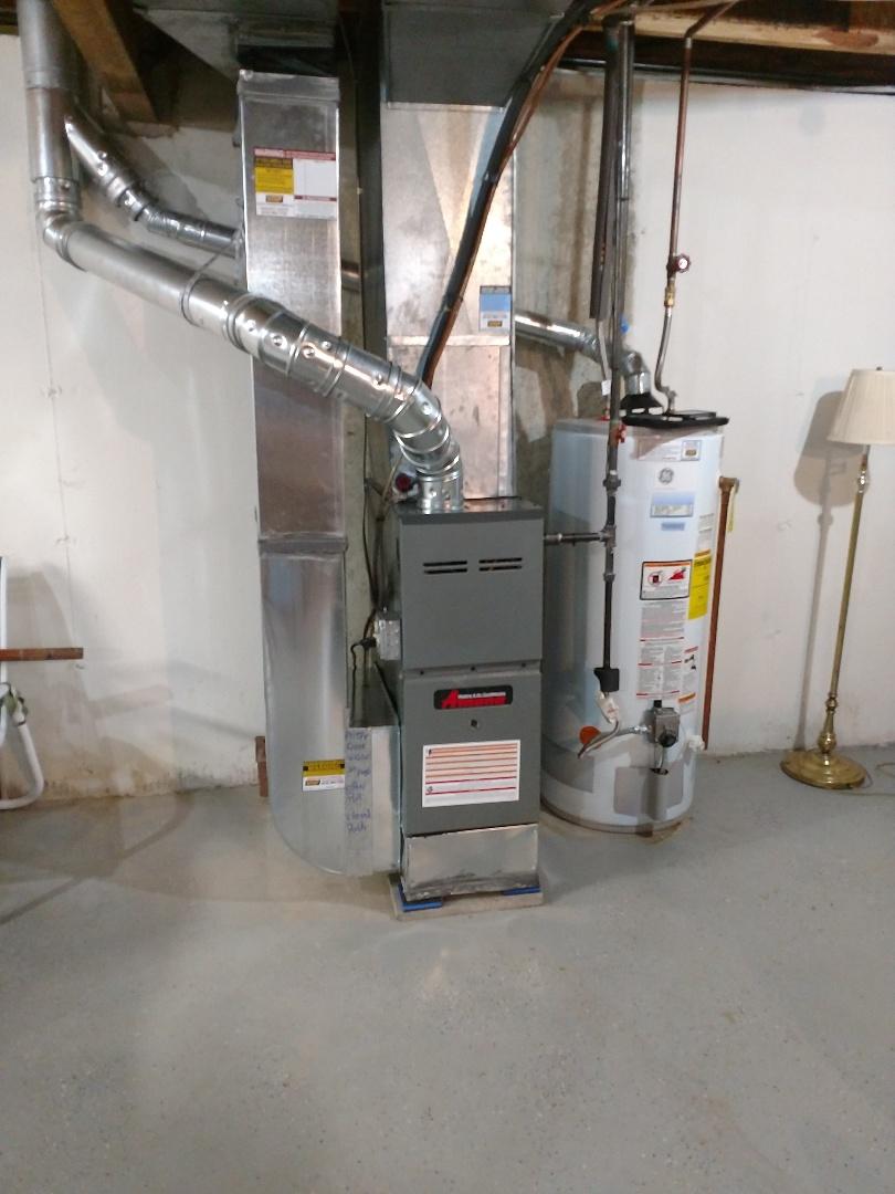 Kimball, MI - Setup new amana furnace