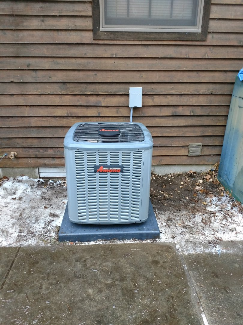 Lexington, MI - Install new 96% 80,000 BTU Amana furnace with Amana ac