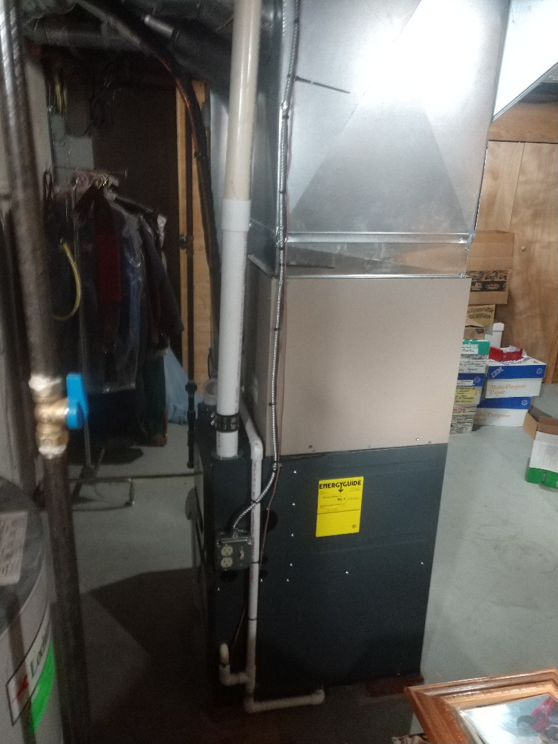 Emmett, MI - Installation of an Amana furnace and aprilaire humidifier