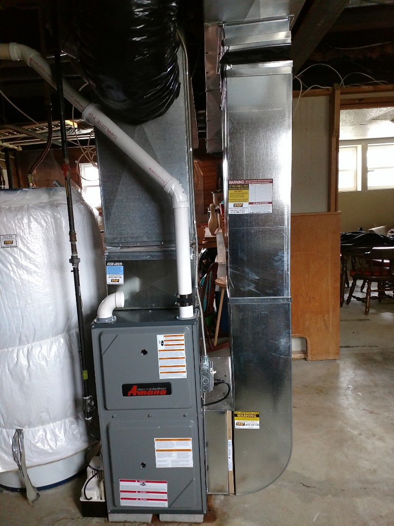 Saint Clair, MI - Install new furnace 96%80btu amana