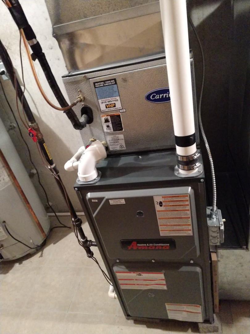 Marysville, MI - Maintenance tune up on Amana furance