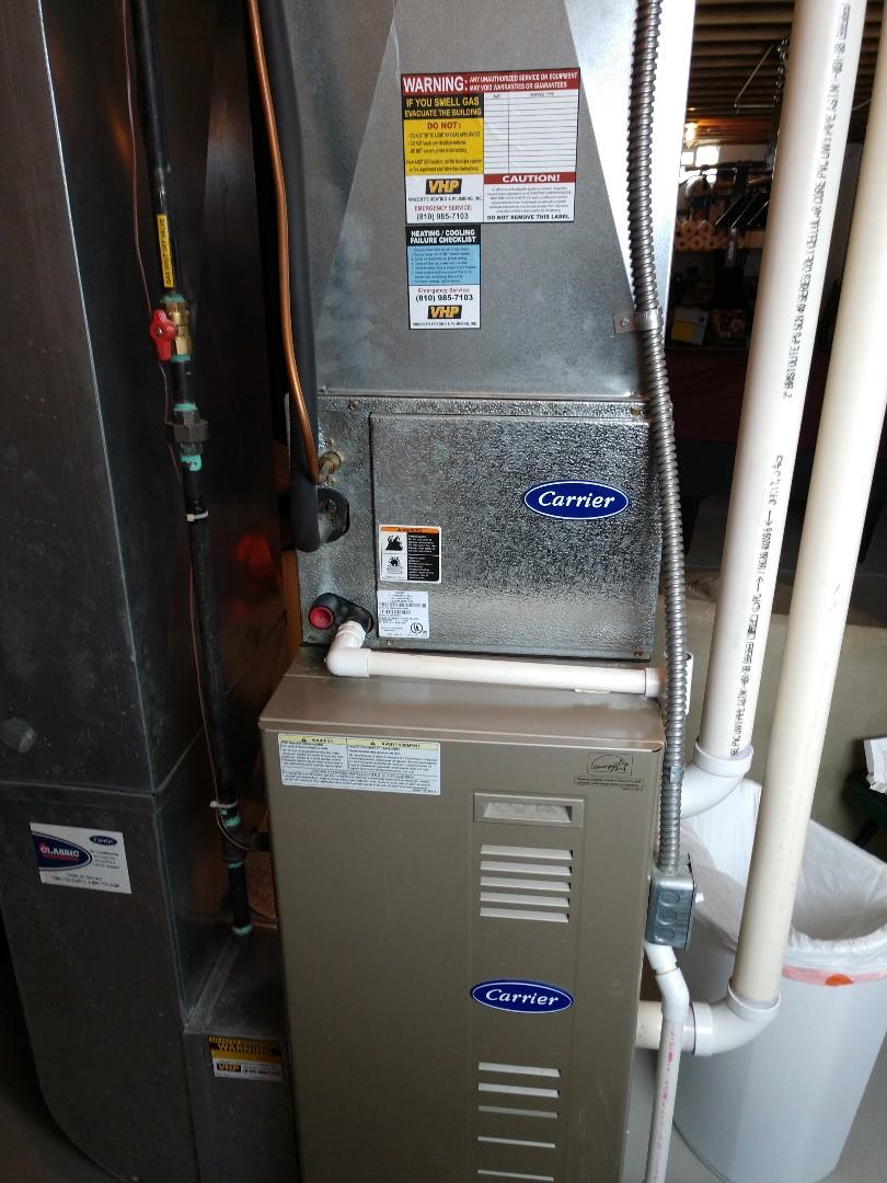 Marysville, MI - Repair on Carrier furnace