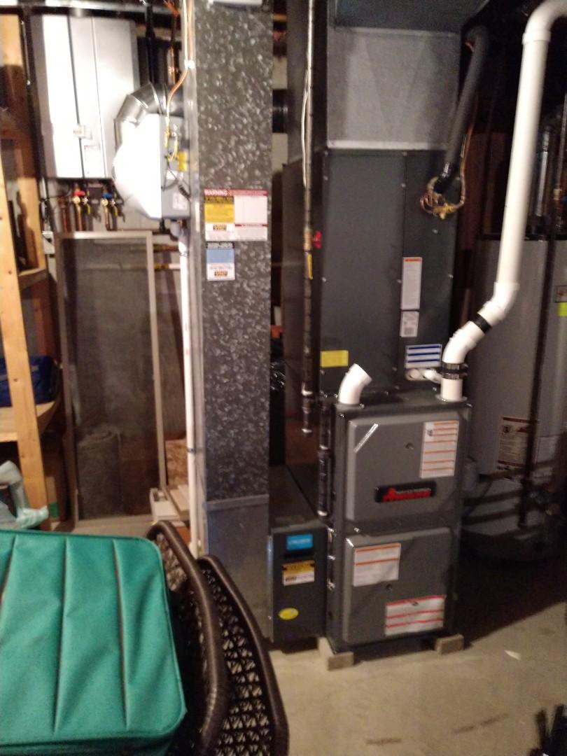 Marysville, MI - Maintenance tune up on Amana furnace.