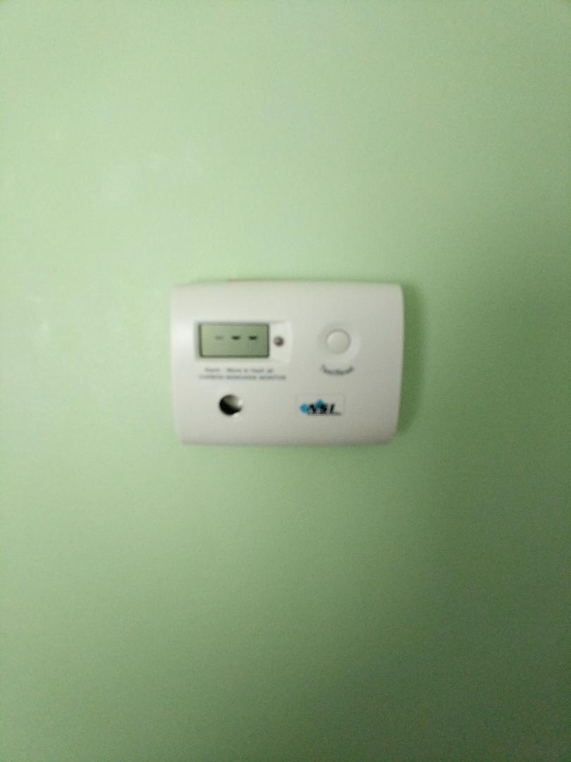 Marysville, MI - Low level CO monitor installed in bedroom.