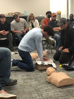 Dallas, GA - Vantix Electric is always making sure we work in a safe and protected environment. Training and certifying our Electricians in CPR is one of the ways we prove that to our clients and our workforce.