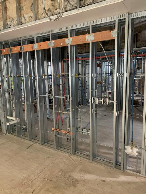 Nashville, TN - Making progress here in Nashville Tennessee. We are roughing some more walls.  If you are looking for someone to take care of your electrical needs, we are Vantix Electric. #Commercial Electrician near me