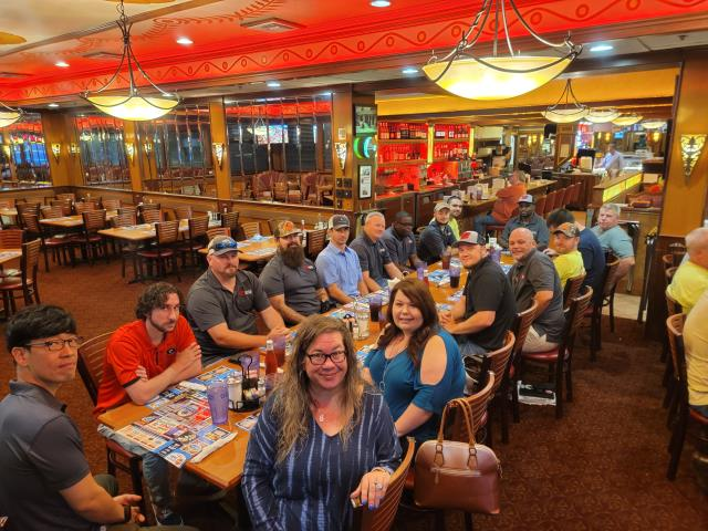 Marietta, GA - Today @6am John Hand, Owner-President of Vantix Electric, scheduled a Monday Morning Meeting at the Marietta Diner to show his appreciation for all his employees. We had a great time, we ate breakfast, met everyone and left with a smile. Its such a great feeling when your job appreciates you.