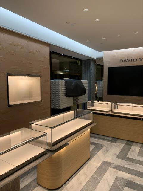 Atlanta, GA - Today we are working in Lenox mall a new store called David Yurman! We are installing all kinds of light and fixtures making  the place look great. Look at the progress we are making!