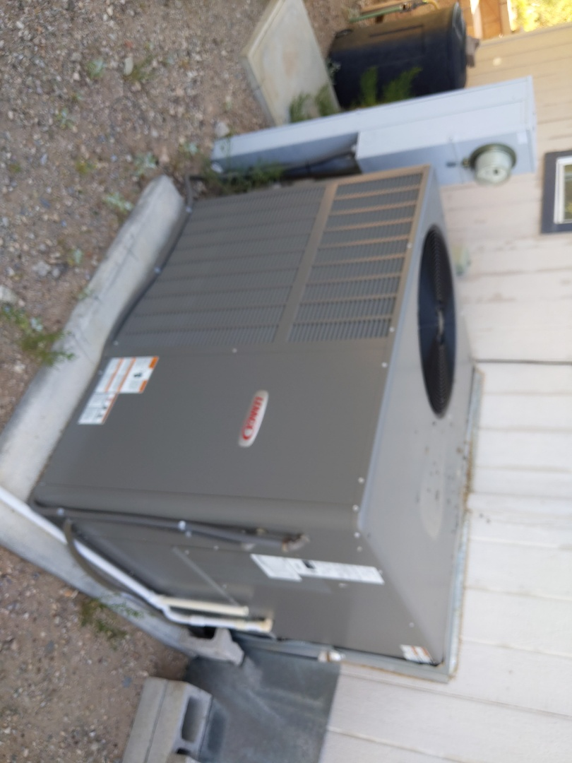 Vail, AZ - Working on an Air Conditioning Tune Up on a Lennox Gas Package Unit installed by Strongbuilt in 2017, for a family in Rincon Trail neighborhood