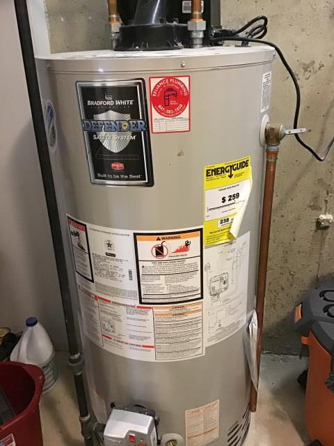 Evanston, IL - Customer elected Reliance Plumbing to flush out their 50 gallon water heater in Evanston, IL.