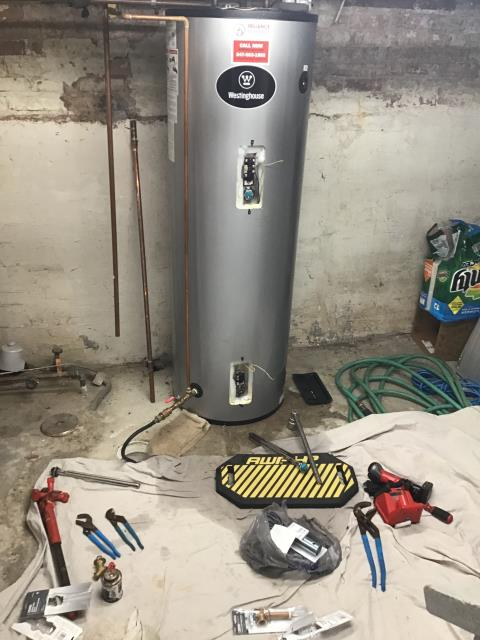 Winnetka, IL - Changed heating elements & T&P valve in a Westinghouse electric water heater in Winnetka Illinois