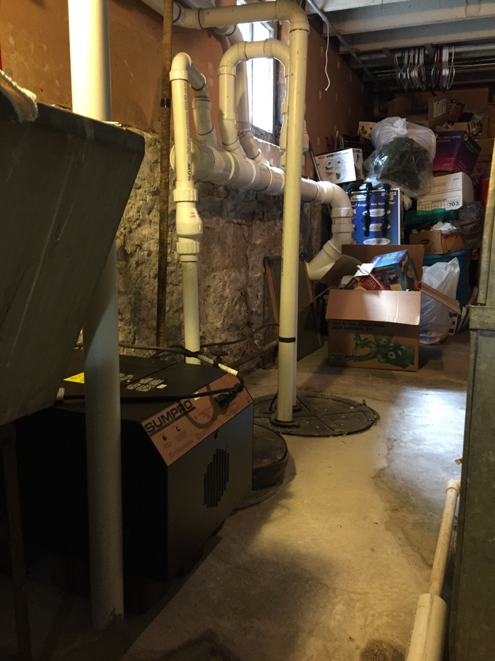 Oak Park, IL - Installed an overhead sewer and Sump Pro battery backup system in Oak Park.