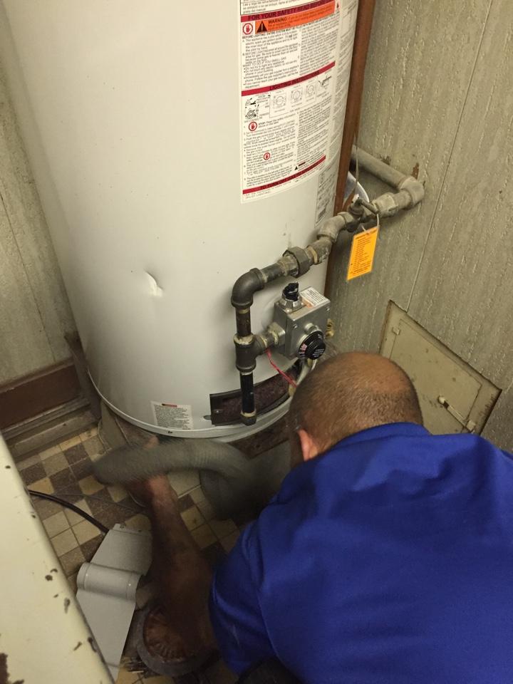 Morton Grove, IL - Tuned up a water heater for a customer in Morton Grove.