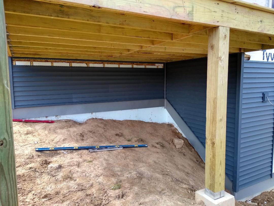 Sheboygan, WI - Siding on new home  Installation of vinyl siding  Certainteed vinyl siding install
