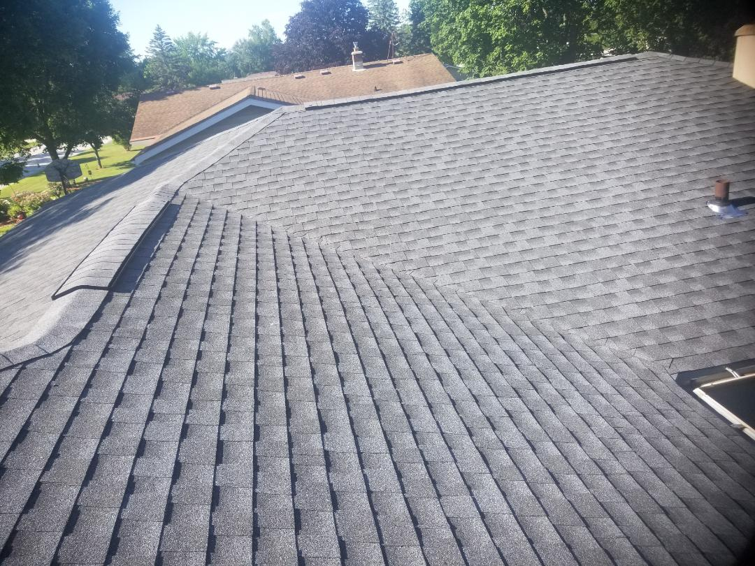 Sheboygan Falls, WI - Roof replacement with GAF HDZ shingles  Pewter Gray