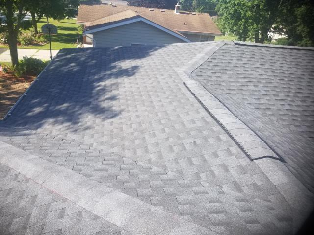 Howards Grove, WI - install new roof system using GAF TIMBERLINE HDZ shingles - Pewter Gray color 