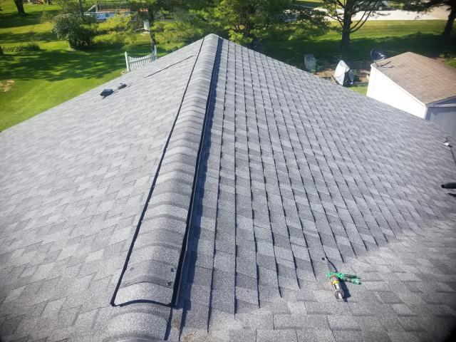 Howards Grove, WI - Remove shingles and install new GAF Timberline HDZ Pewter Gray shingles 