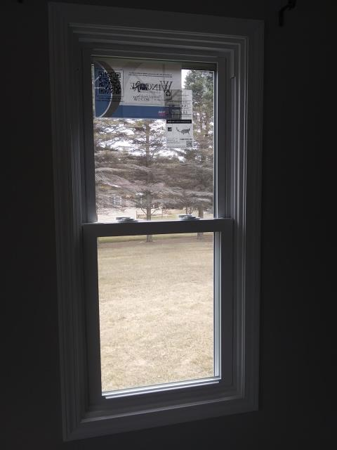 Newton, WI - Replaced windows - Installed new Wincore 5400 series double hung windows   Install new aluminum trim