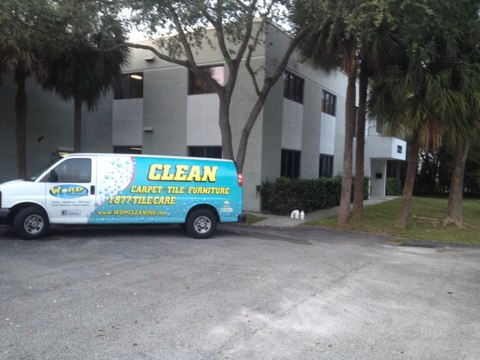 Pompano Beach, FL - just finished up cleaning some tiling grout and a bunch of commercial carpet man it looks good