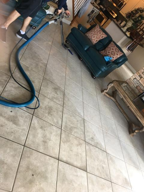 Royal Palm Beach, FL - Another Tile/Grout Cleaning, Carpet cleaning done well. Customer was extremely happy.  Very nice guy a pleasure working with for him.