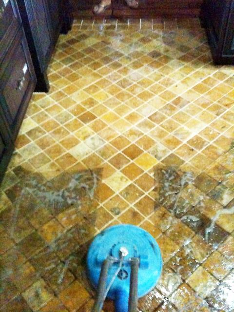 Coral Springs, FL - We went out to clean 3 rooms of carpet and she asked Gregg about tile and grout cleaning. He did a test spot and she was so impressed, she had all of her tile too.