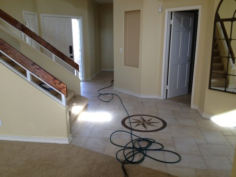 Margate, FL - cleaned 2 rooms of carpet and stairs, and tile and grout.