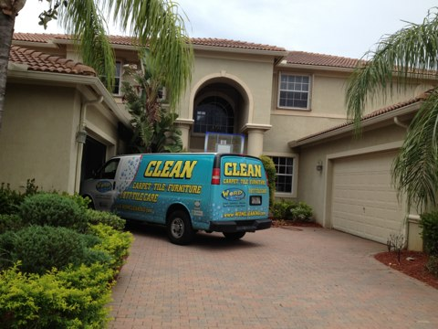 Weston, FL - cleaned a couple of pet spots they came out really good