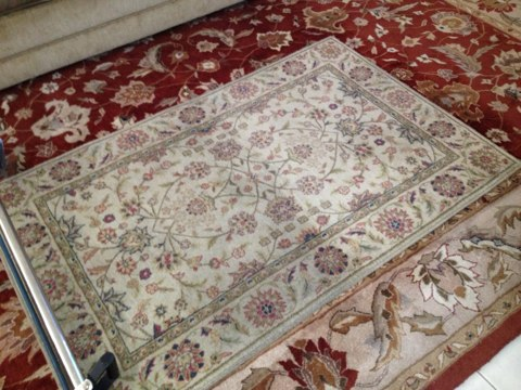 cleaned Tile and grout1 room of carpet cleaning and 4 wool Oriental rug they all came out like brand-new