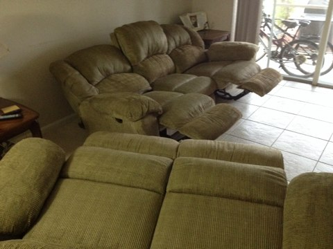 Margate, FL - Cleaned sofa love seatthey came out like new