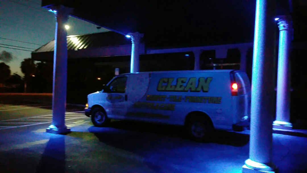 Pompano Beach, FL - Cleaning some carpets in Fort Lauderdale before the sun comes up