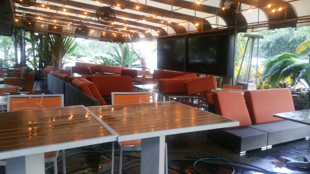 Davie, FL - Carpet cleaning at a restaurant this morning also cleaned the patio furniture