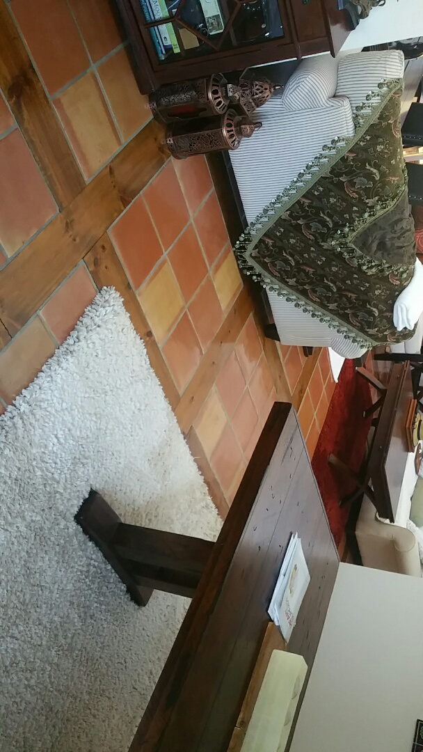 Clean 2 rooms of carpet into area rugs at West Palm Beach