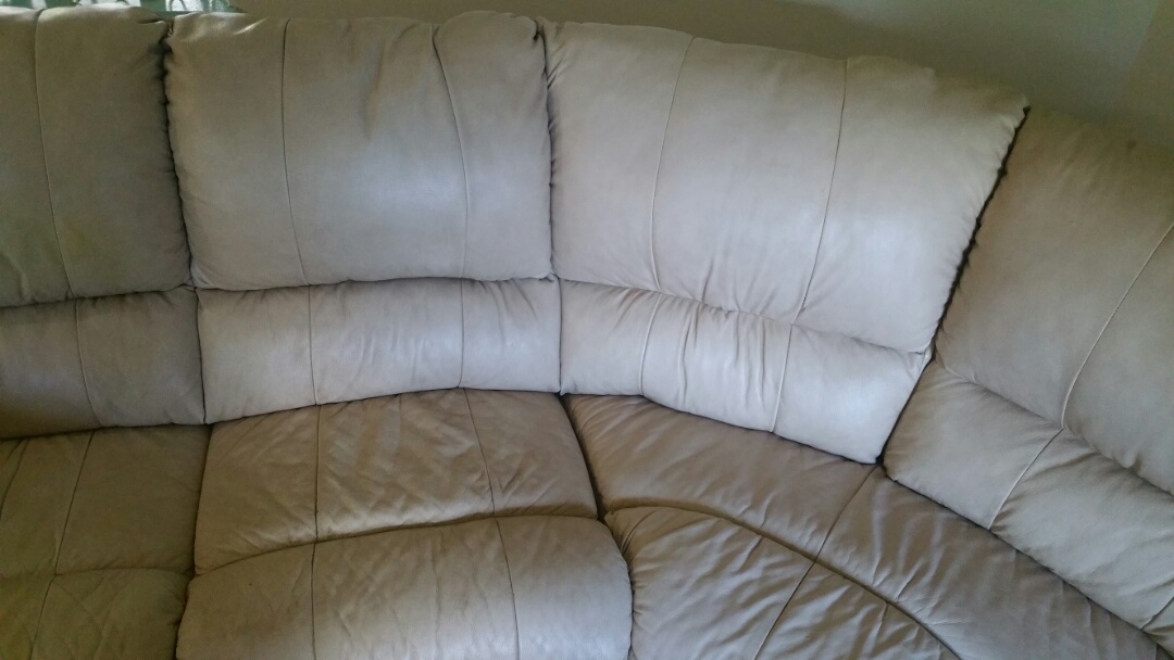Leather cleaning sectional sofa