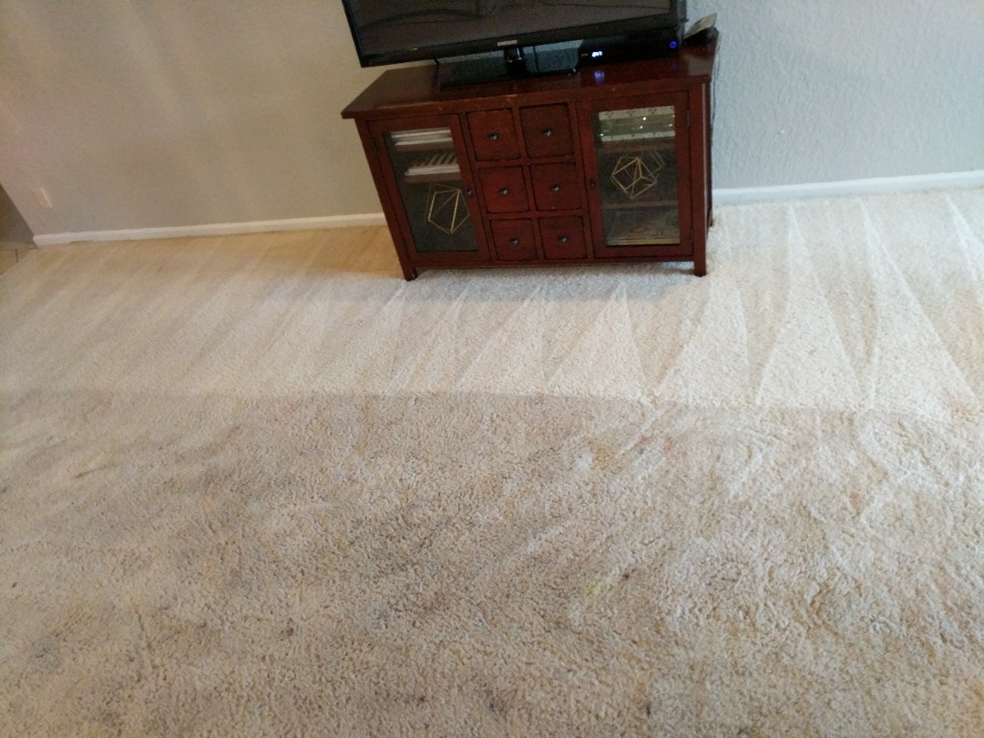 Pompano Beach, FL - Cleaning four rooms of carpet in Tamarac. Wow.... that's coming out awesome....