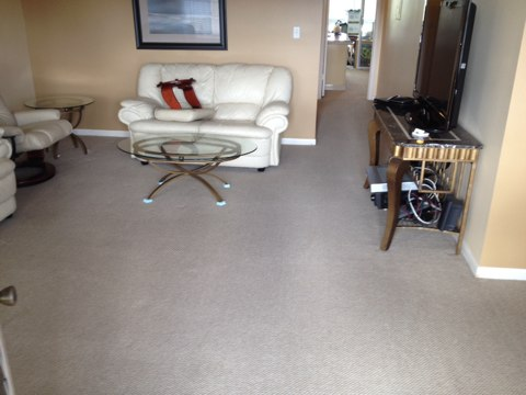 cleaned 4 rooms of carpet. in coconut creek The carpets really look good now