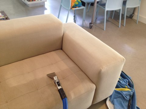 Weston, FL - we cleaned sec sofa  and Applied a Teflon protecter to help the sofa stay cleaner longer and always clean up better