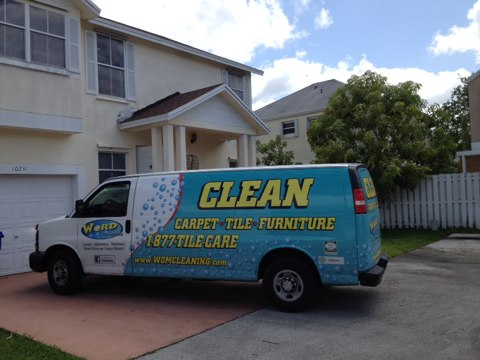 Pembroke Pines, FL - we cleaned four rooms of carpet and restretch two rooms of carpet all the rooms look so good the customer said her 10-year-old carpets look like new again