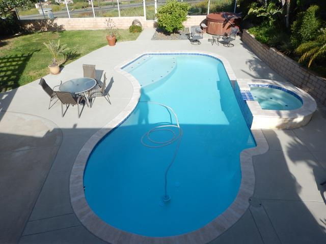 Lakeside, CA - The Property Inspection Pros also performs pool and spa inspections as another service. This is a detailed and comprehensive inspection or the pool/ spa and related components. During this inspection the furnace was found to be not operating, a pool light was out, and no GFCI was found.
