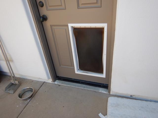Pet doors installed in exterior doors or through an exterior wall could lead to moisture related issues and is a safety concern. One could easily put their arm through the pet door, unlock the door and walk into the house. As San Diego's leading home inspection company our certified experience inspectors feel that these are good reasons for removing these pet doors. Please compare our home inspection company to any to see why we stand out above the competition.