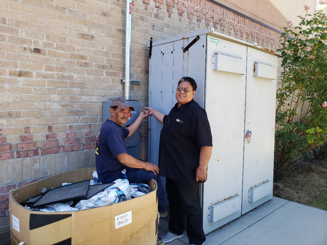 West Valley City, UT - Tongan United Methodist Church turnining on the New Soler Power System