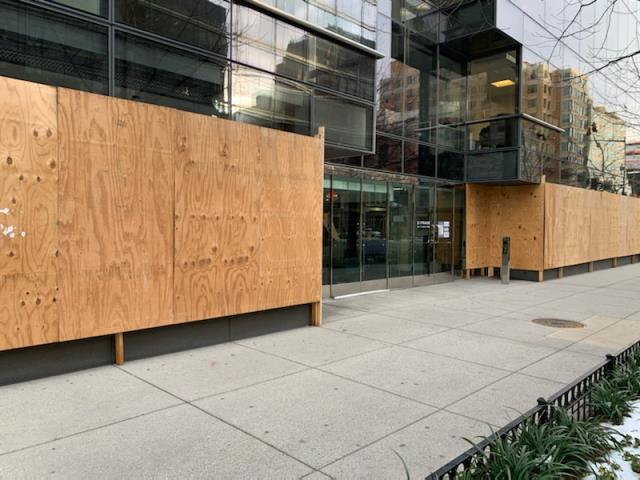 Washington, DC - Gave an estimate for DefenseLite security panels for the front of this building to avoid boarding up.