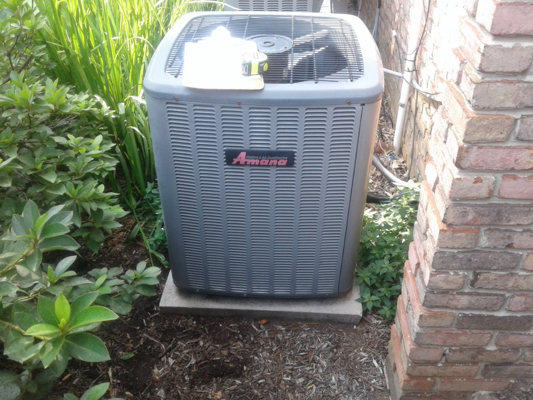 Collierville, TN - a.c. tuneup on Amana air conditioner