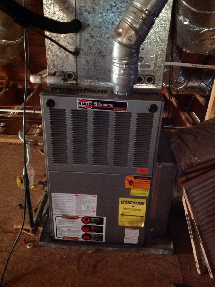 Atoka, TN - Heating tune up on Rheem furnace.