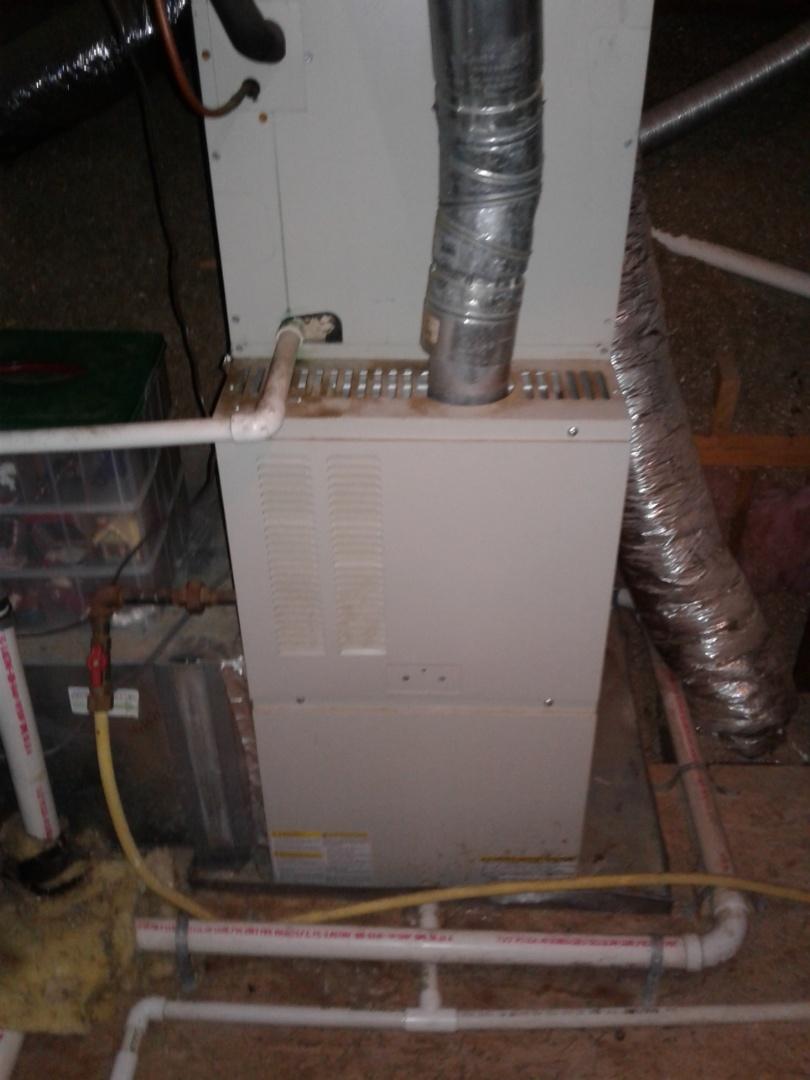 Arlington, TN - Heat tune up and safety inspection on Nordyne furnace.