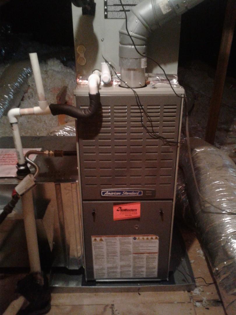 Arlington, TN - Heat tune-up on American Standard furnace