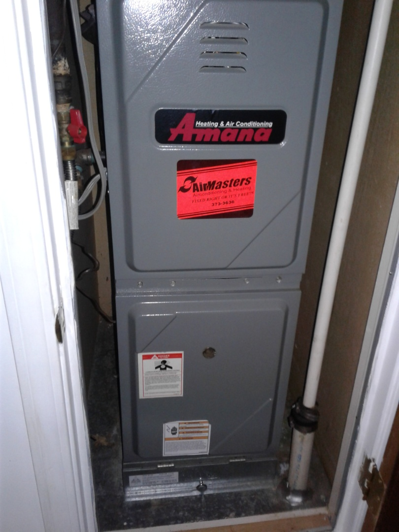 Horn Lake, MS - Heat tune up and safety inspection on an Amana furnace.