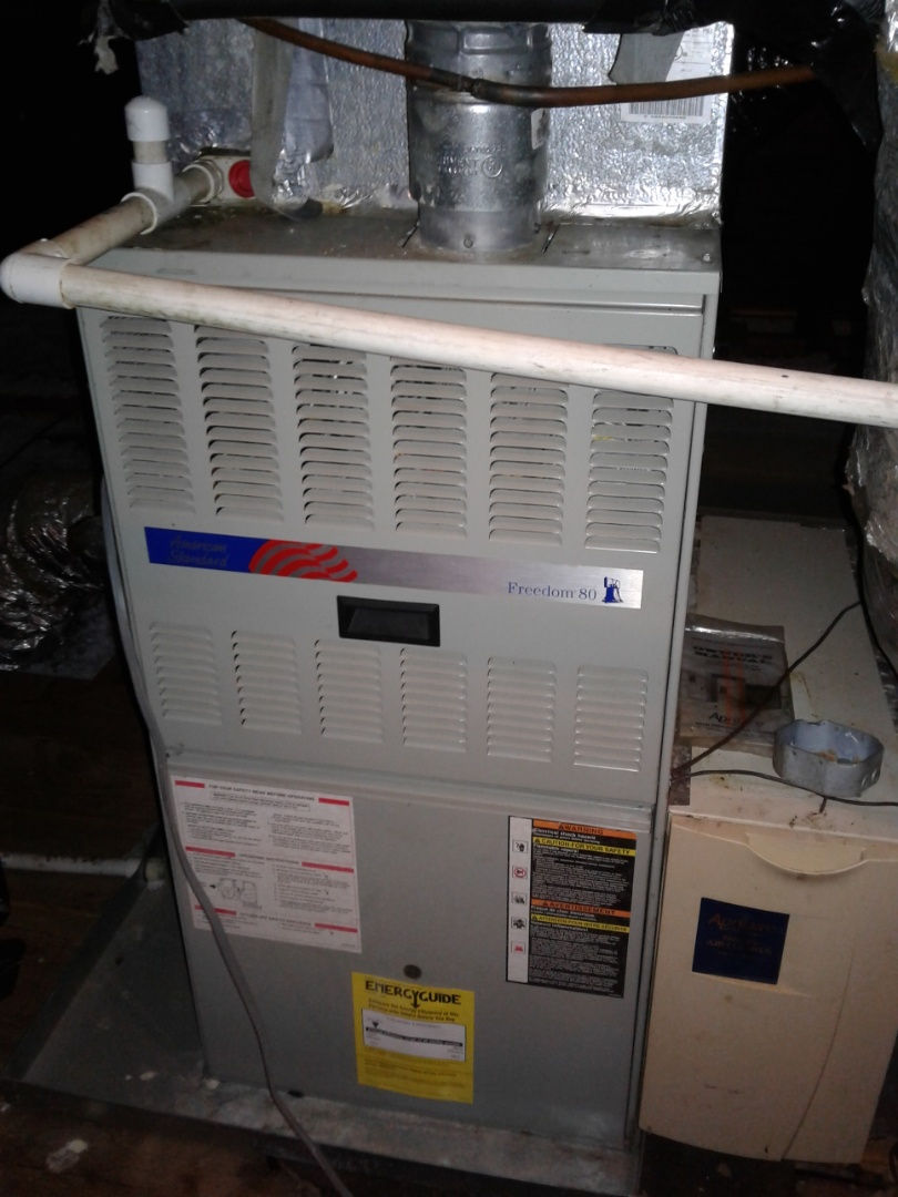 Memphis, TN - Service and inspection on an American Standard furnace.
